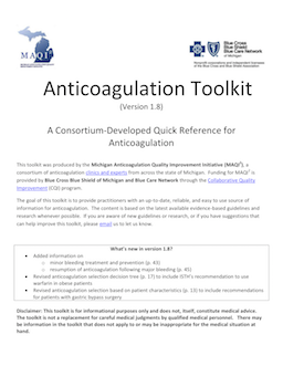 Anticoagulation Toolkit PDF